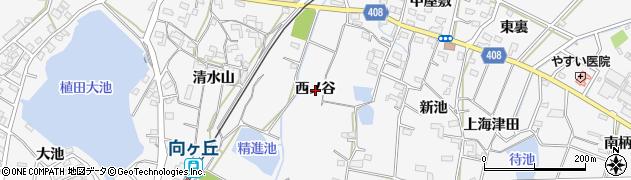 愛知県豊橋市植田町(西ノ谷)周辺の地図