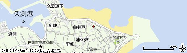 愛知県南知多町(知多郡)日間賀島(薮ノ鼻)周辺の地図
