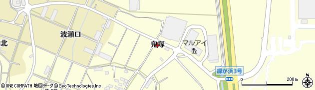 愛知県田原市浦町(鬼塚)周辺の地図