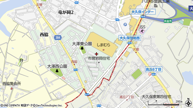 〒651-2414 兵庫県神戸市西区大沢の地図