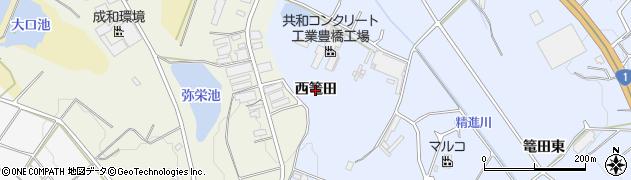 愛知県豊橋市東細谷町(西篭田)周辺の地図