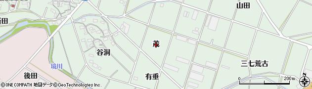 愛知県豊橋市大崎町(茂)周辺の地図