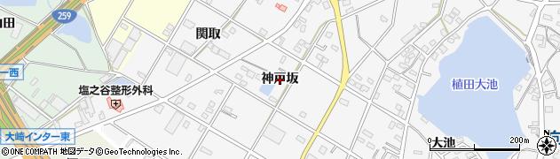 愛知県豊橋市植田町(神戸坂)周辺の地図