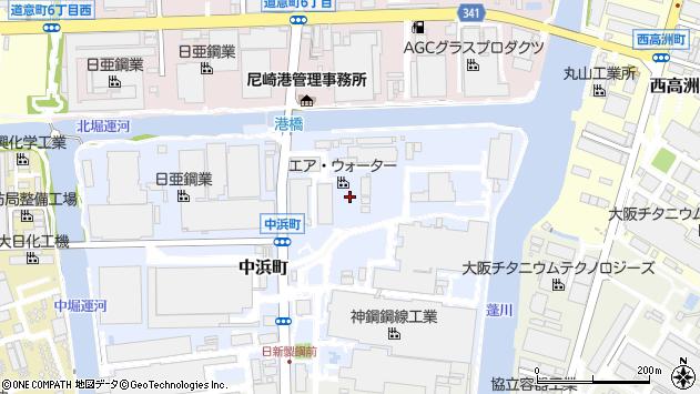 〒660-0091 兵庫県尼崎市中浜町の地図
