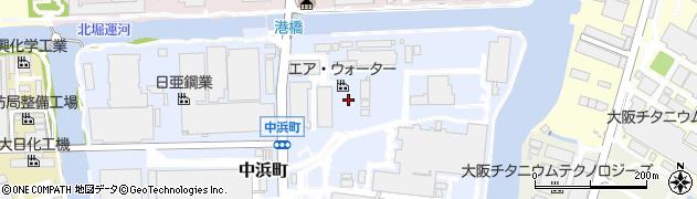 兵庫県尼崎市中浜町周辺の地図