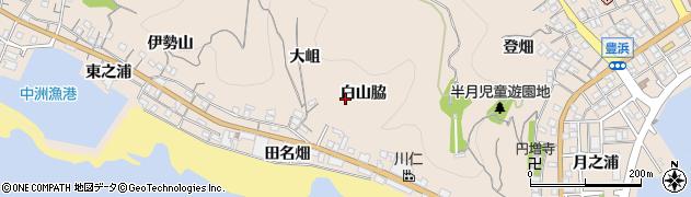 愛知県南知多町(知多郡)豊浜(白山脇)周辺の地図