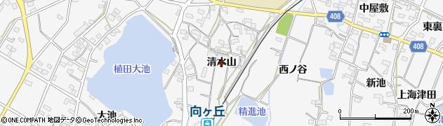愛知県豊橋市植田町(清水山)周辺の地図