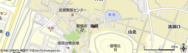 愛知県田原市波瀬町(東郷)周辺の地図