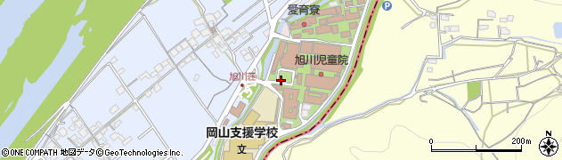 岡山県岡山市北区祇園周辺の地図