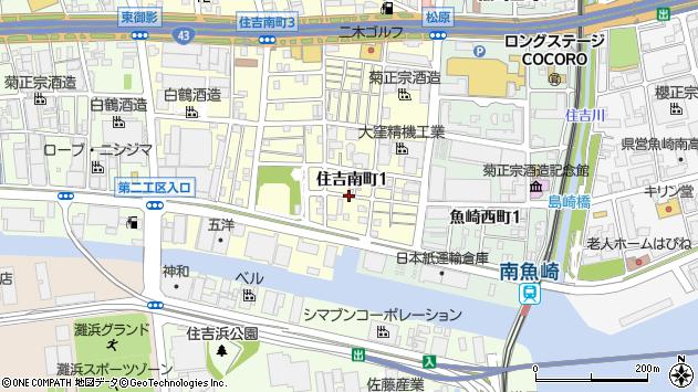 〒658-0041 兵庫県神戸市東灘区住吉南町の地図