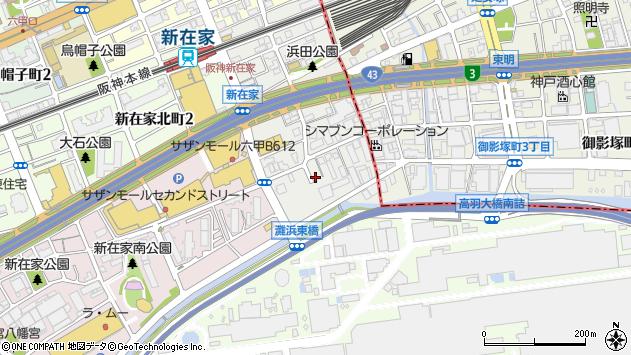 〒657-0862 兵庫県神戸市灘区浜田町の地図