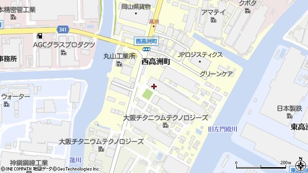 〒660-0845 兵庫県尼崎市西高洲町の地図