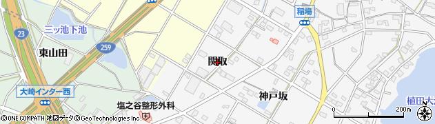 愛知県豊橋市植田町(関取)周辺の地図