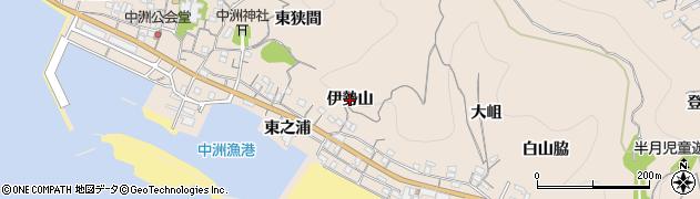 愛知県南知多町(知多郡)豊浜(伊勢山)周辺の地図