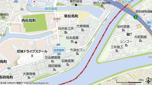 〒660-0832 兵庫県尼崎市東初島町の地図