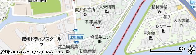 兵庫県尼崎市東初島町周辺の地図