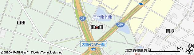 愛知県豊橋市大崎町(東山田)周辺の地図