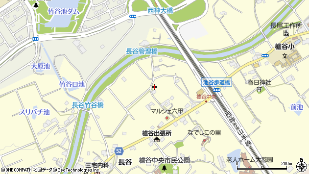 〒651-2235 兵庫県神戸市西区櫨谷町長谷の地図