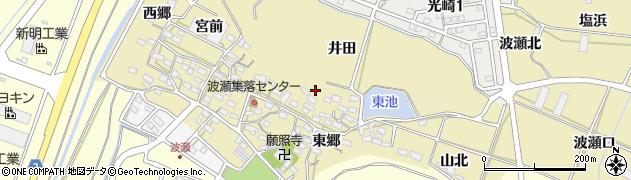 愛知県田原市波瀬町周辺の地図