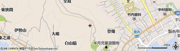 愛知県南知多町(知多郡)豊浜(赤平井)周辺の地図