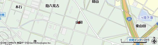 愛知県豊橋市大崎町(山田)周辺の地図