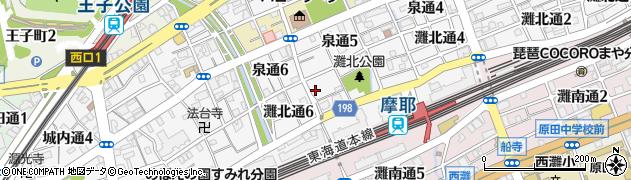 稗田水神社周辺の地図