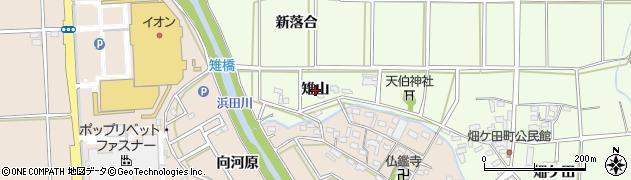 愛知県豊橋市畑ケ田町(雉山)周辺の地図