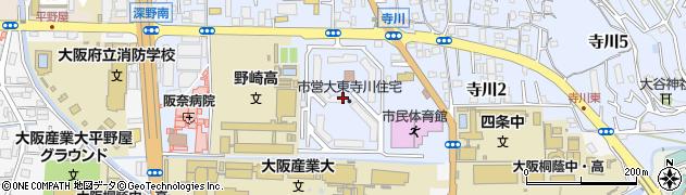 府営大東寺川住宅周辺の地図