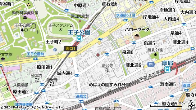 〒657-0836 兵庫県神戸市灘区城内通の地図