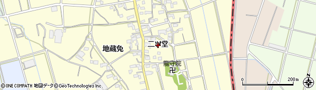 愛知県豊橋市原町(二ツ堂)周辺の地図