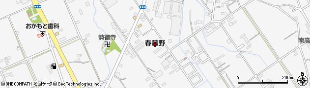 愛知県豊橋市天伯町(春日野)周辺の地図
