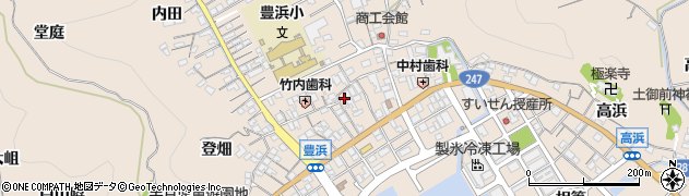 愛知県南知多町(知多郡)豊浜周辺の地図