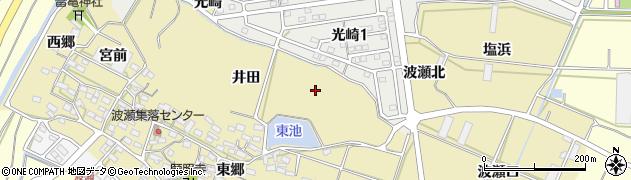 愛知県田原市波瀬町(井田)周辺の地図