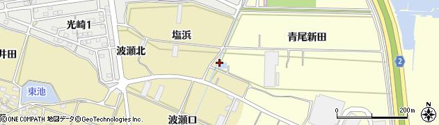 愛知県田原市浦町(大洲)周辺の地図