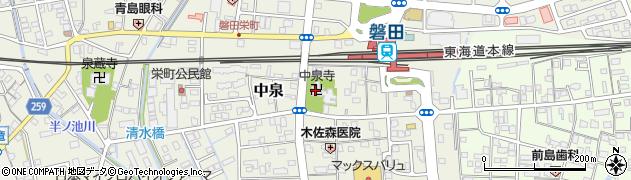 中泉寺周辺の地図