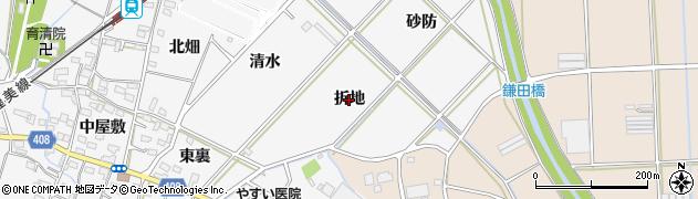 愛知県豊橋市植田町(折地)周辺の地図