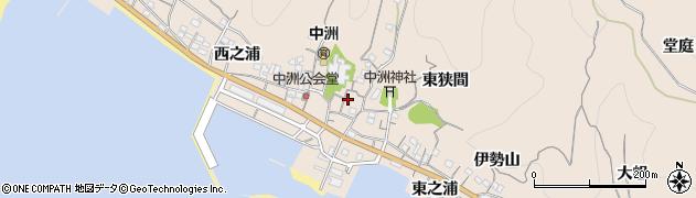 愛知県南知多町(知多郡)豊浜(中之浦)周辺の地図