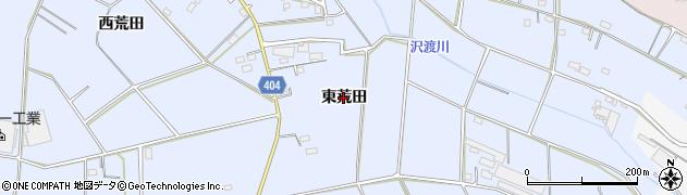 愛知県豊橋市大岩町(東荒田)周辺の地図