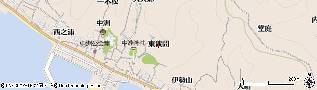 愛知県南知多町(知多郡)豊浜(東狭間)周辺の地図