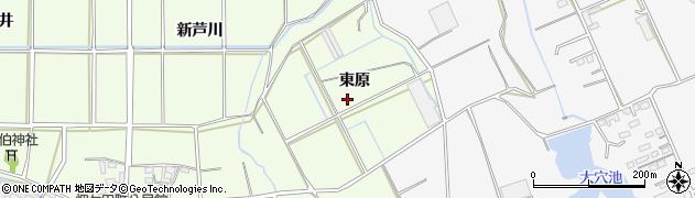愛知県豊橋市畑ケ田町(東原)周辺の地図