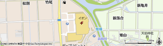 ほなみジャスコ 豊橋南店周辺の地図