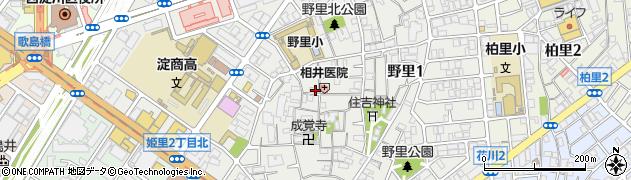 大阪府大阪市西淀川区野里周辺の地図