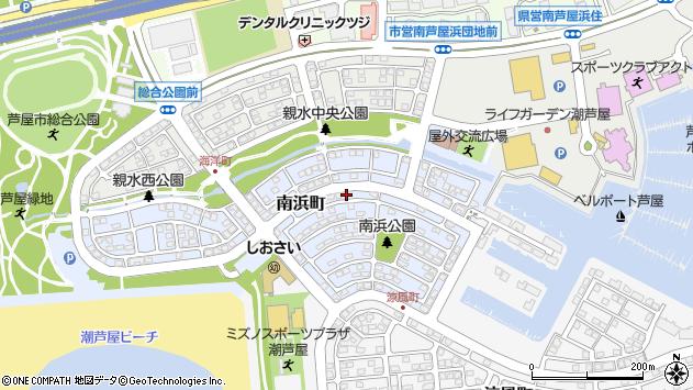 〒659-0037 兵庫県芦屋市南浜町の地図
