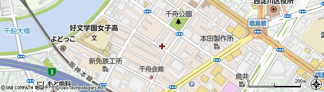 大阪府大阪市西淀川区千舟周辺の地図