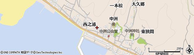 愛知県南知多町(知多郡)豊浜(西之浦)周辺の地図