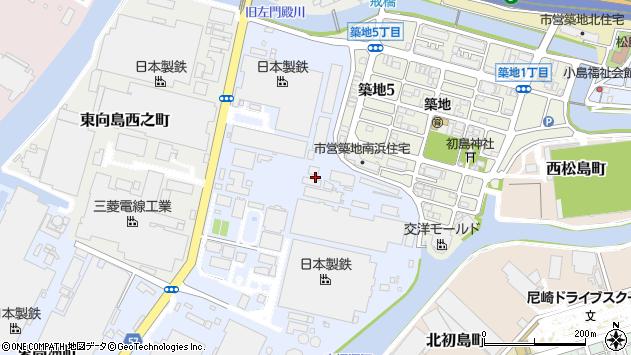 〒660-0835 兵庫県尼崎市東向島東之町の地図