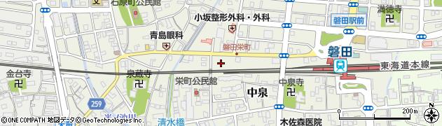 静岡県磐田市栄町周辺の地図