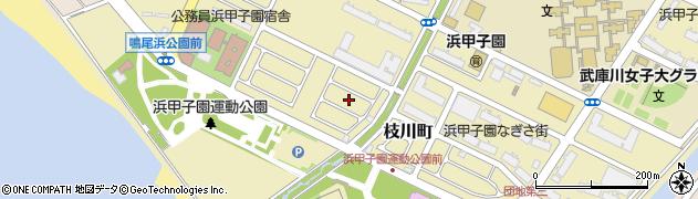 浜甲子園団地周辺の地図