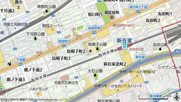 〒657-0042 兵庫県神戸市灘区烏帽子町の地図