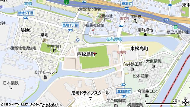 〒660-0837 兵庫県尼崎市西松島町の地図